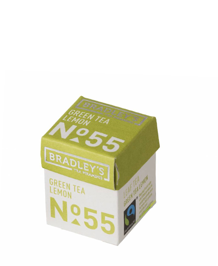 Bradley's Piramini Green Lemon tea 55